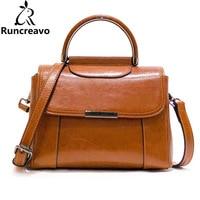 Genuine Leather Shoulder Bags for Women Sac A Main Fashion Brown Female Crossbody Bag Designer Clutch Totes Bolsas Lady bolsa
