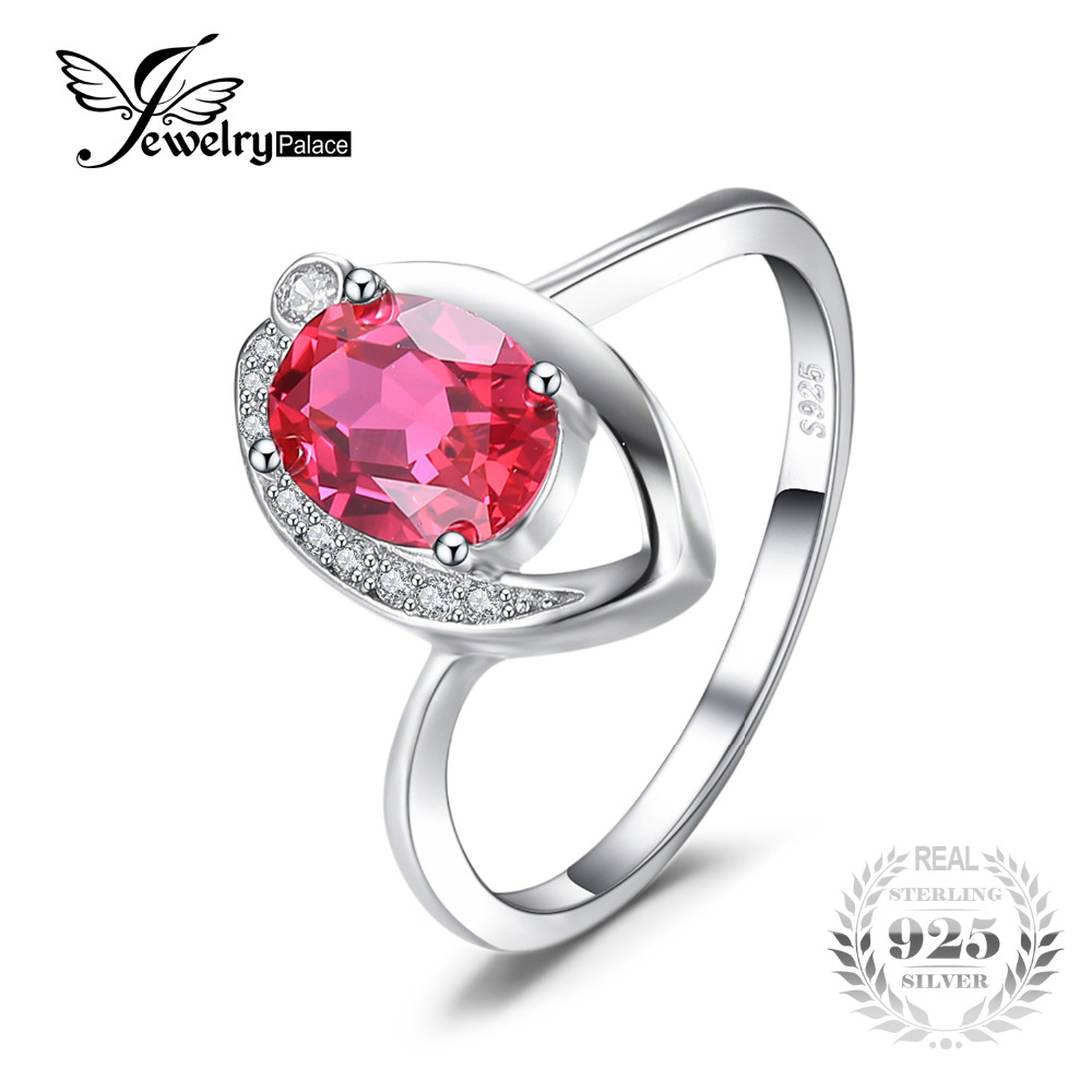 JewelryPalace Ruby 925 Sterling Silver Ring For Women