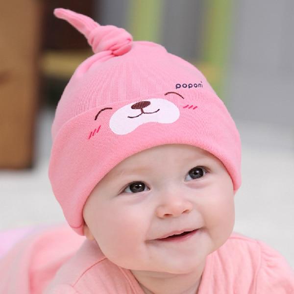 Baby Hats Cotton Baby Hats Newborn 9 Colors Cartoon Baby Girl Boy Toddler  Cotton Sleep Cap Headwear Lovely Hat 5161c3142ef