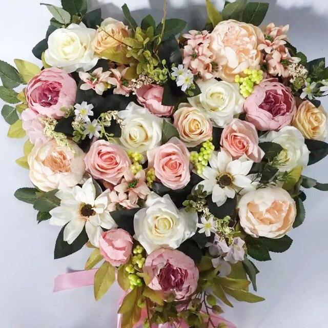 Hochzeit Auto Dekorationen Fur Kunstliche Blumen Rose Pfingstrose