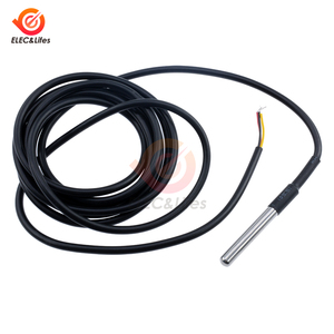 Stainless steel package DS18B20 1M 3M waterproof temperature probe temperature sensor DS18B20 cable Line