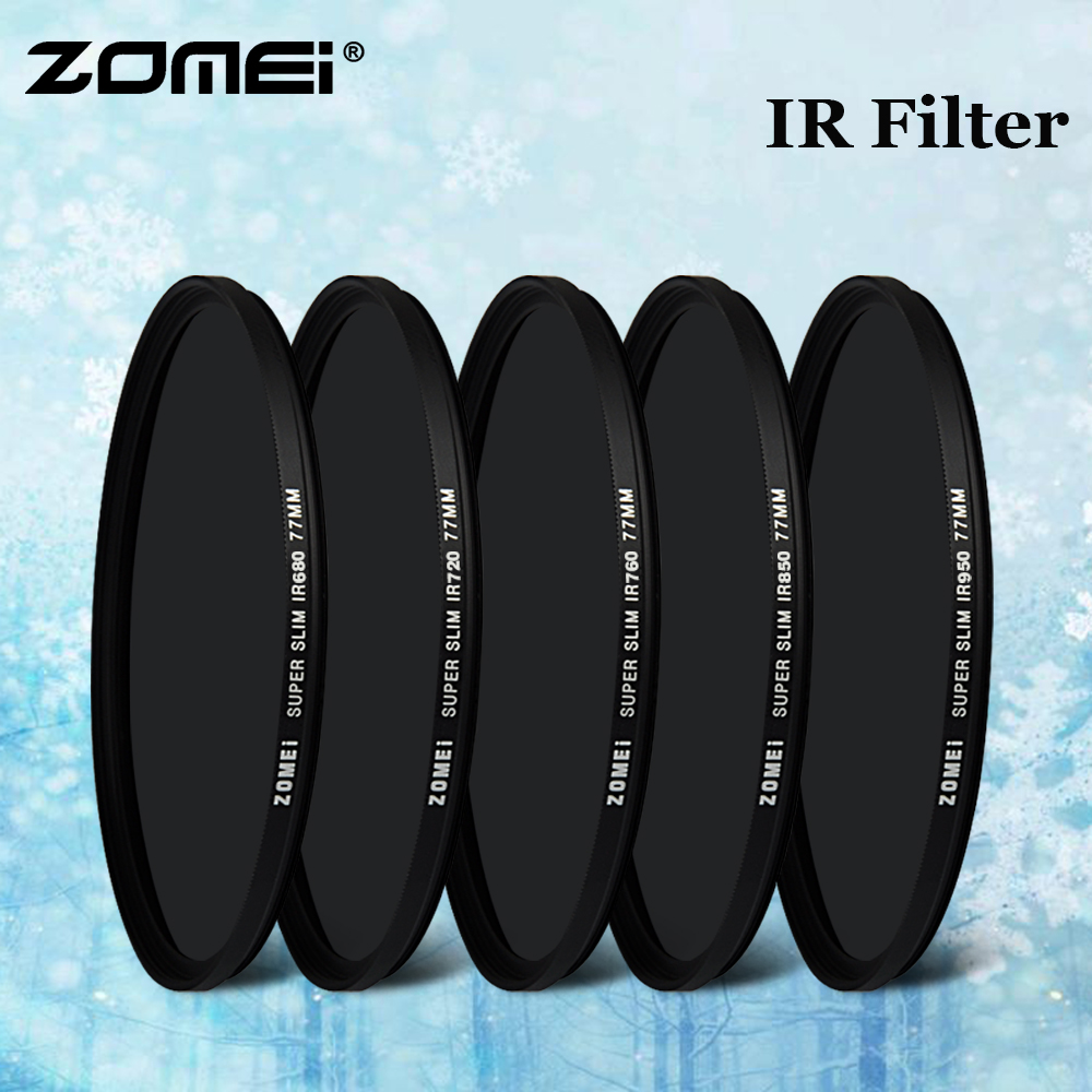 52mm 590nm IR Filter Infrared Infra-Red Optical Grade Filter for Camera Lens Suitable for Crime Detection Medical Photography