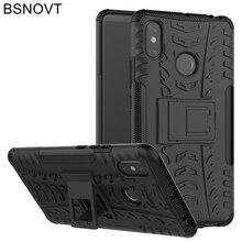 For Xiaomi Mi Max 3 Case Cover Silicone Plastic Hard PC Armor Anti-knock Phone BSNOVT