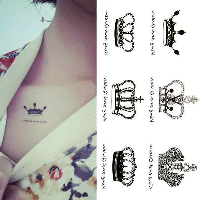 New Arrival Water Transfer Crown Waterproof Temporary Tattoo Sticker Sexy Body Art Tattoos