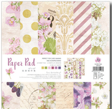 25.5*25.5cm Scrapbooking paper pack of 24 sheets handmade craft paper craft Background pad PP011