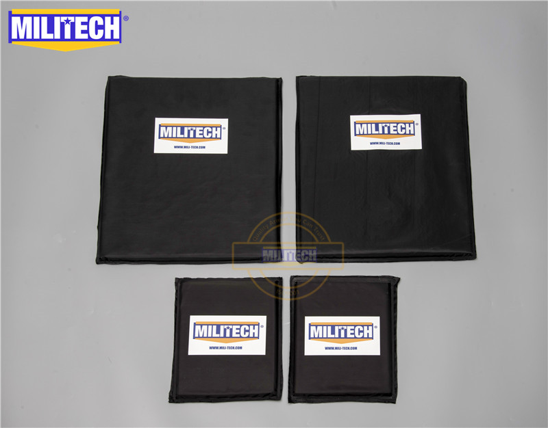 MILITECH Aramid Ballistic Panel Bullet Proof Plate Inserts Body Armor Soft Armour NIJ Level IIIA 3A 11 X 14 & 6 X 8 Two Pairs