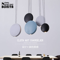 Nordic Creativity Modern Hanging Lamps Round Simple Cord Pendant Lamp Led Ring Resin Design Lamp Pendant Lighting Bar Bedroom
