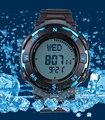 Los hombres de alta calidad reloj brújula digital para senderismo + hombre natación llevado 50 M a prueba de agua reloj + tiempo múltiple zona envío libre del reloj