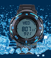 high quality men digital compass watch for hiking+man led swimming 50M water proof watch+multiple time zone watch free shipping