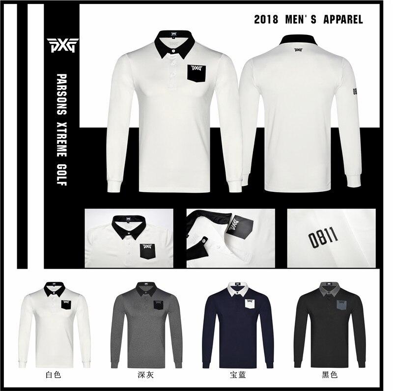 PXG Men Golf T-shirts Men'S Polo Shirts Autumn Long Sleeve Golf T Shirt Breathable Sports Clothes Tops Brand Shirt saints summer style t shirt men famous brand t shirt men cotton all size printed retro sheepshead fashion t shirt men tops