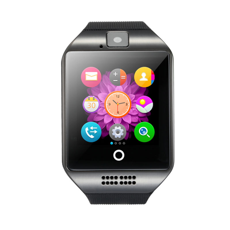 Fashion Q18 Passometer Smart Watch With Touch Screen camera TF card Bluetooth smartwatch For Android IOS Phone