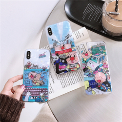 Phone Case For iPhone 6 6s 7 8 Plus Case iPhone X XS XR Xs Max Dream Shell Mickey Minnie Mouse Love Heart Fruit Case Soft Cover 6