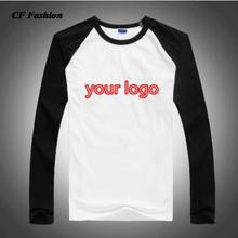 Качество Быстрый логотип футболка с длинным рукавом реглан тройники мужчины DIY тексты одежда хлопок футболки футболка homme бренд одежды