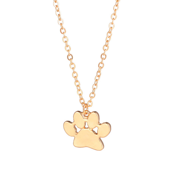Gold silver 1pc paw necklace pawprint necklace paw print necklace gold silver 1pc paw necklace pawprint necklace paw print necklace engraved pets name dog memorial aloadofball Images