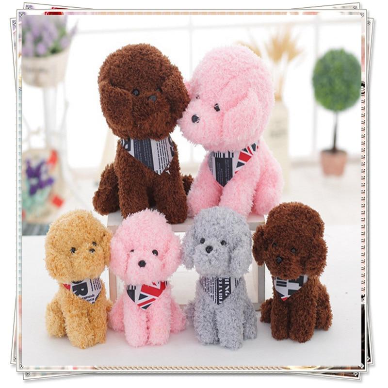 Miccidan Dog leksaker för barn kawaii minions ty dockor hund valentin dag gåvor tecknad pussel leksaker valentins dag present