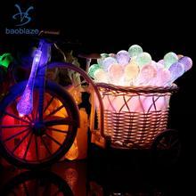 led water drop shape string fairy light solar power home garden patio bar cafe decoration multi colored - Multi Cafe Decoration