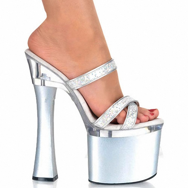 2016 Fashion Sexy Open Toe Shoe 18cm Sexy High-Heeled Slippers 7 Inch Performance Summer Shoes Exotic Dancer Shoes female 7 inch high heeled shoes open toe sandals two ways women 18cm fashion platform slippers buckle exotic high heel shoes