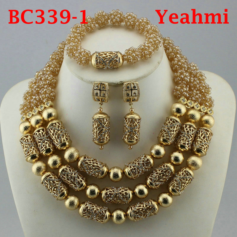Luxury Nigerian Wedding Beads Jewelry Set Traditional African Wedding Bridal Statement Necklace Set Dubai Free Shipping BC339-2Luxury Nigerian Wedding Beads Jewelry Set Traditional African Wedding Bridal Statement Necklace Set Dubai Free Shipping BC339-2