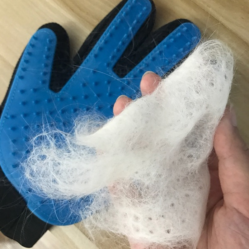 Pet hair gloves comb cat dog beauty cleaning gloves brush pet glove hair remove Gentle Efficient Pet Grooming Glove in Grooming Glove from Home Garden