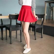 a13e248d0b3d87 Nieuwe korte rokken vrouwen 2016 nieuwe stijl casual vintage meisjes rokken  voor school rode plisse mini