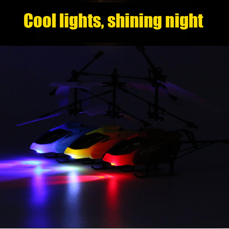 2019 Mini RC drone Flying RC Helicopter Aircraft Suspension induction  helicopter LED Light With Remote Control Toys for Children