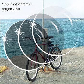 1 56 fotocromoy brązowy lub szary progresy zakres SPH-6 00 ~ + 5 50 Max CLY-4 00 dodaj + 1 00 ~-+ 3 50 soczewki do okularów tanie i dobre opinie Reven Jate Cr-39 Okulary akcesoria Anti-odblaskowe Fotochromowe 1 56 Photochromic Progressive Lenses myopia Progressives Polarized Photochromic Tinted