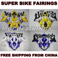 Motorcycle ABS Fairing Kit For Yamaha YZF R1 2004 2005 2006 Fairings Bodywork 50th ANNIVERSARY YELLOW CAMEL
