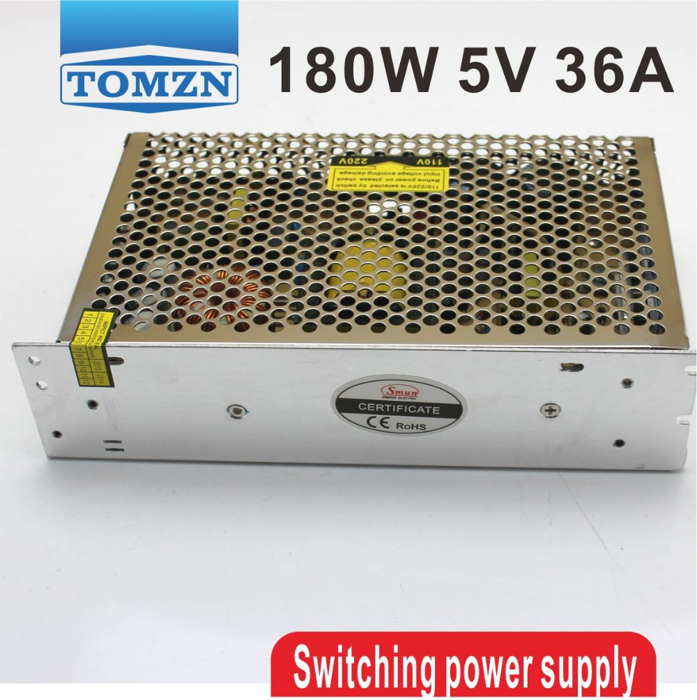 180W 5V 36A Single Output Switching power supply for LED Strip light AC to DC ac 85v 265v to 20 38v 600ma power supply driver adapter for led light lamp
