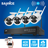 SANNCE 4CH 720P HD NVR Wireless IP Network In Outdoor IR Security Camera System
