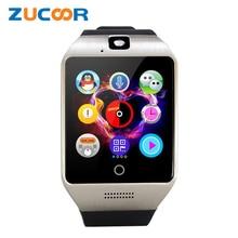 Q18 Bluetooth Smart наручные часы телефон Q18S с Камера TF SD слот sim-карты сна Мониторы Сидячий напоминание запись для IOS Для мужчин