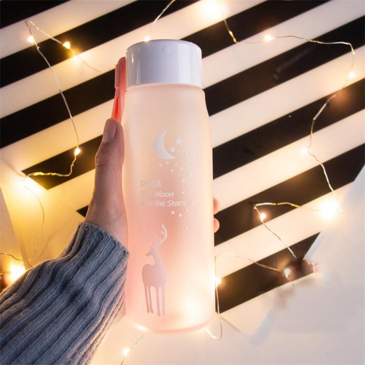 HTB1yhrJOCzqK1RjSZFjq6zlCFXab 560ml Water Bottle Leak Proof for Girl Biking Travel Portable Water Bottles Plastic H1177