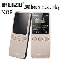 Ruizu X08 Flac 무손실 하이파이 디지털 오디오 화면 Mp 3 음악 Mp3 플레이어 8 기가바이트 헤드폰 스피커 라디오 FM