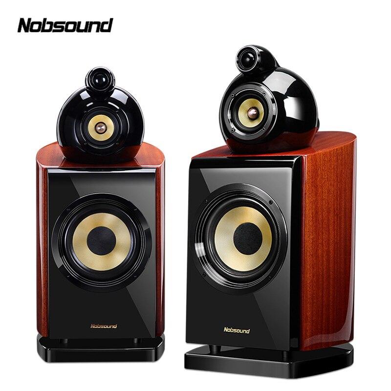 Nobsound DM8 1 paire 6.5 pouces haut-parleurs d'étagère en bois à trois voies 2.0 HiFi colonne son maison haut-parleur professionnel
