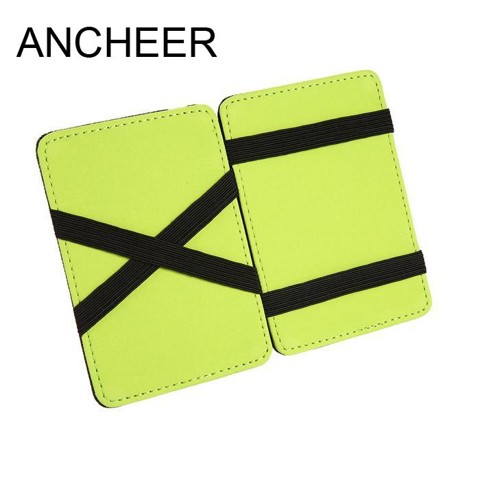Card Thin Ultra Holder Minimalist Front Pocket Wallet Synthetic Leather Card Case