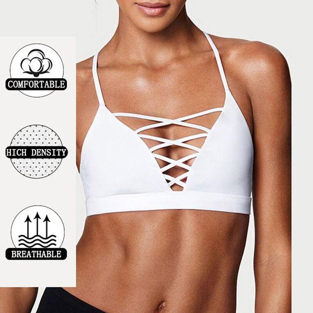 Female Sexy Sports Bra Crisscross Front Back New Active Yoga Running Wear Gym Bra Women Vest Seamless Crop Tops 5