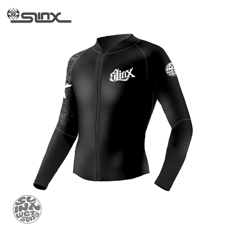 Slinx RivaRanger 1109 5mm Neoprene Fleece Lining Warm Jacket Wetsuit Kite Surfing Windsurfing Swimwear Boating Scuba Diving Suit slinx 1106 5mm neoprene men scuba diving suit fleece lining warm wetsuit snorkeling kite surfing spearfishing swimwear page 2