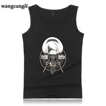 2017 HOT Game NieR Automata Summer O-Neck Vest Men Tank Tops Shirt Bodybuilding Clothing Undershirt Solid Tank plus dimension 5xl