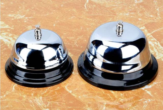 Kitchen Bar Cooking Tools Stainless Steel Bell Service Desk Bells 2 Pcs Lot Free