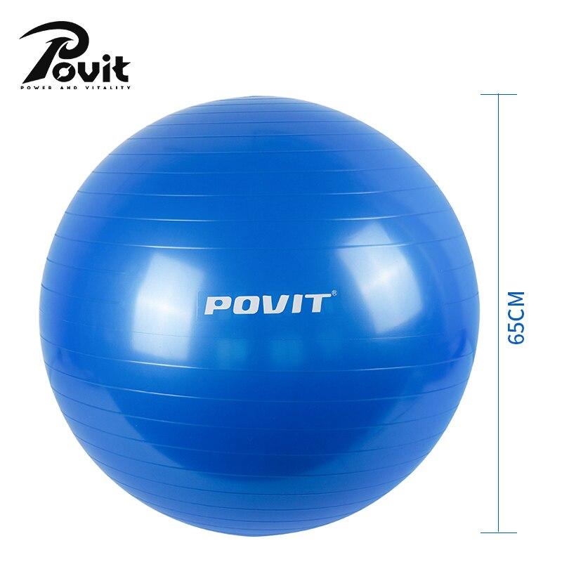 Balle d'exercice de Yoga POVIT 65 CM balles d'exercice de pilates en PVC balle d'équilibre Anti rafale pour le Massage de Point d'entraînement de gymnase de Crossfit