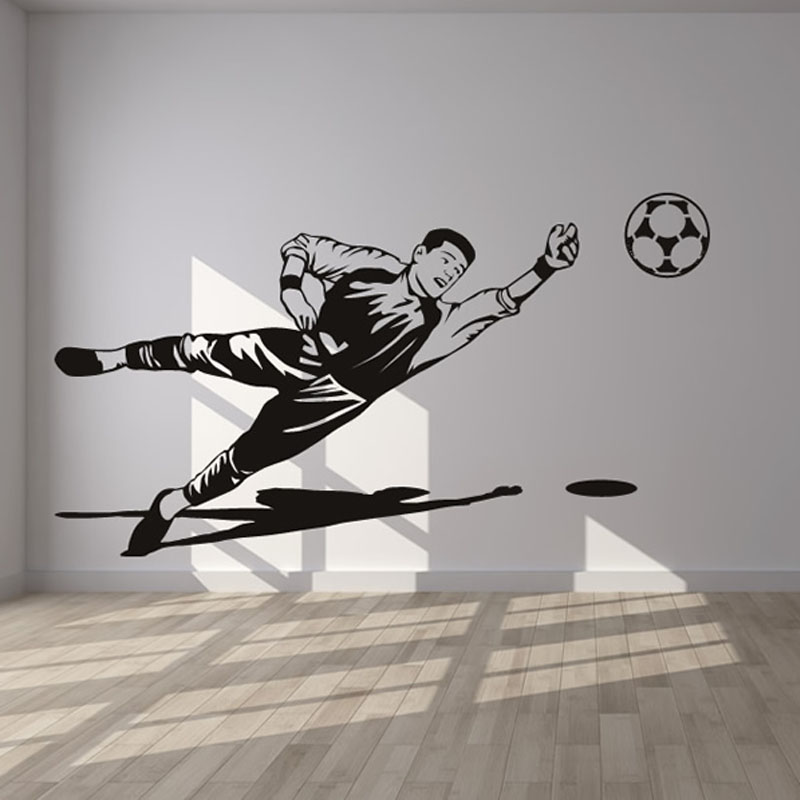 Art Decor Sport Living Room Decorative Football Goalkeeper Wall Sticker PVC Home Decor Removable Wall Decals M469