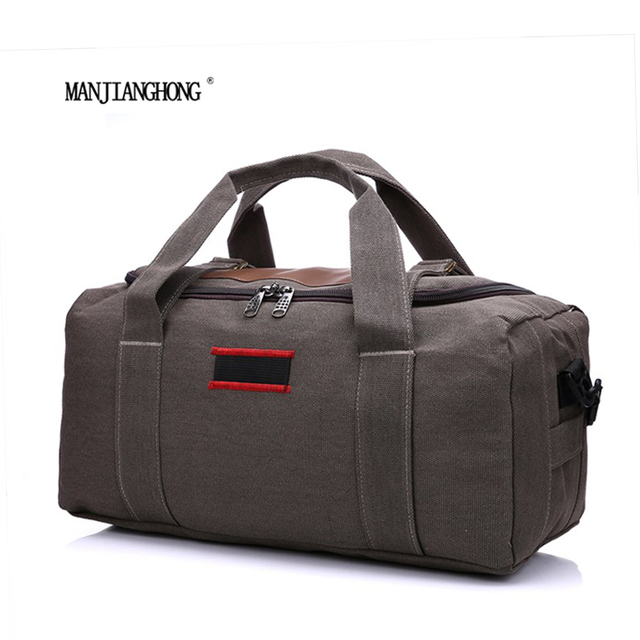 Manjianghong Travel Bag Big Capacity Men Hand Luggage Travel Duffle Bags Canvas Weekend Bags Multifunction Travel Bags