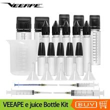 Оригинальная бутылка для сока e Veeape, набор для смешивания капель 15 мл 30 мл 60 мл 100 мл, жидкая бутылка с воронки, шприцы