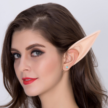 1 Pairs Halloween Elf Ears Cos Props Party Fake Cosplay Masks Fairy Goblin Nature Color