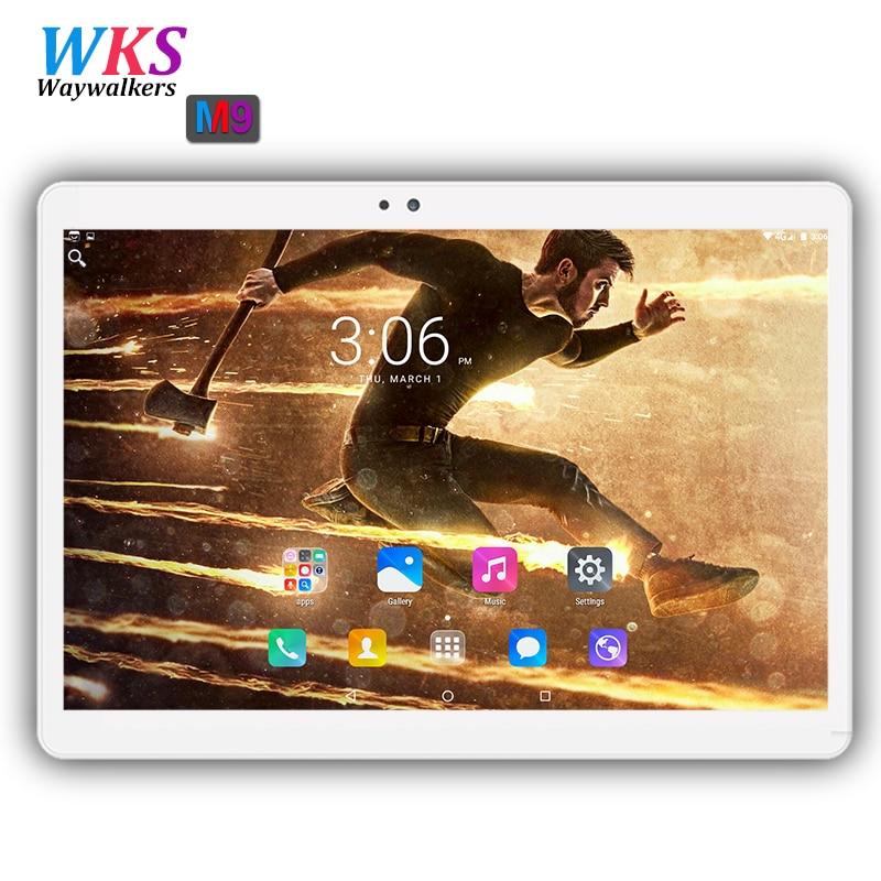 Original 10 inch tablet pc Android 7.0 RAM 4GB ROM 64GB Dual SIM card wifi Bluetooth 1920*1200 IPS tablets pc free shipping 10.1