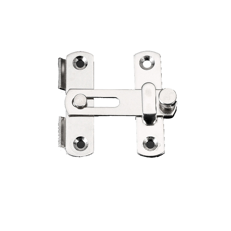 Stainless Steel Buckle Door Lock Sliding Door Chain Lock Security Tool Cabinet Window Hardware Pet Cage Buckle Lock