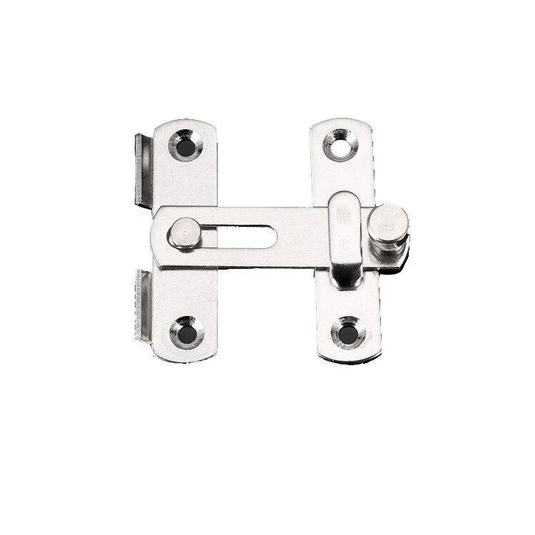 Stainless Steel Buckle Door Lock Sliding Door Chain Lock Security Tool Cabinet Window Hardware Pet Cage Buckle Lock