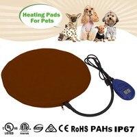 מחצלות כלב עמיד למים Pad Mat עבור דו זוחלים חימום חשמלי טמפרטורת מתכוונן לחיות מחמד כלב חתול כלבלב מיטה חם