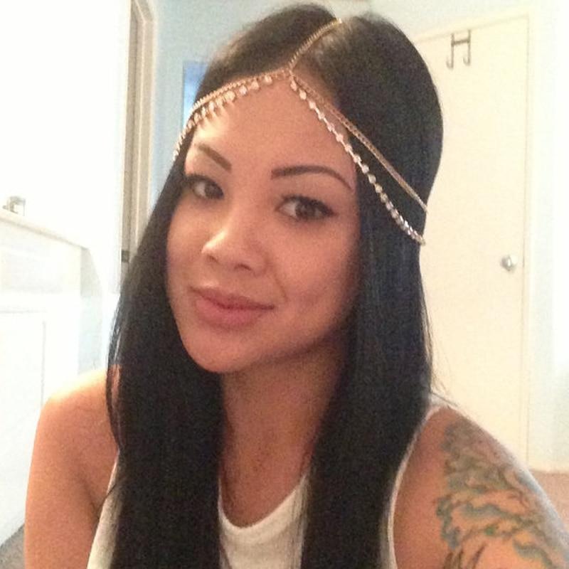 Fashion fashion Rhinestone Headchain Gypsy indian Headpiece Women Headband  Metal Chain Hairbands Jewelry Goddess Head Chain 3926e27fe8f