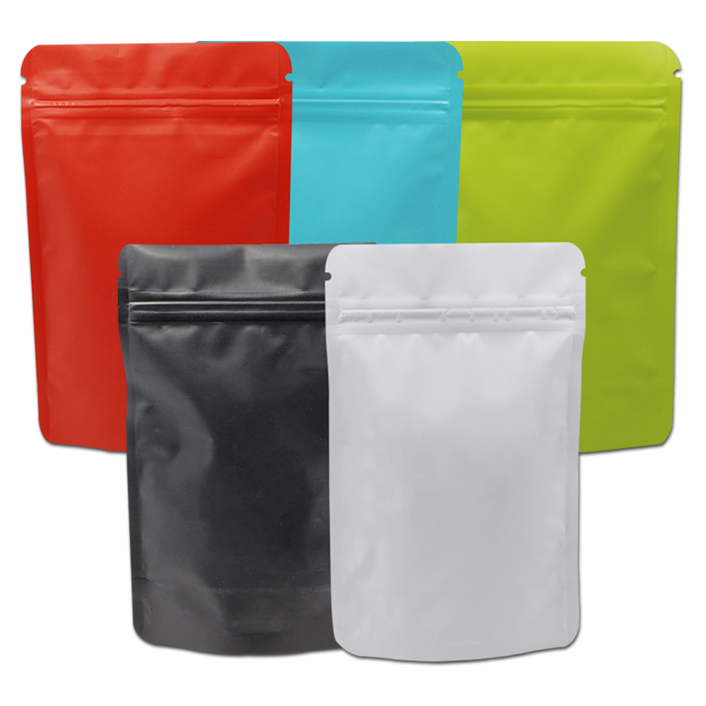 Black Aluminum Foil Mylar Zip Lock Stand Up Bags Pouches Food Coffee Package