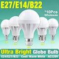 10pcs/lot E14 E27 LED Lamp Bus Station Light 220V Cool/Warm White Bulb 3W 5W 7W 9W 12W 15W Energy Saving LED Bulb Spotlight Lamp